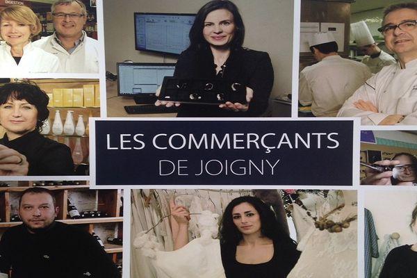 La couverture de l'album d'Emmanuel Robert Espalieu sur les commerçants de Joigny
