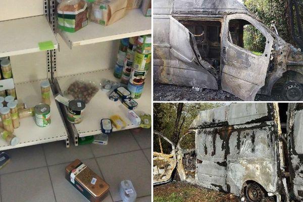L'épicerie solidaire de Domérat dans l'Allier a été vandalisée dans la nuit du 10 au 11 novembre et son camion incendié.