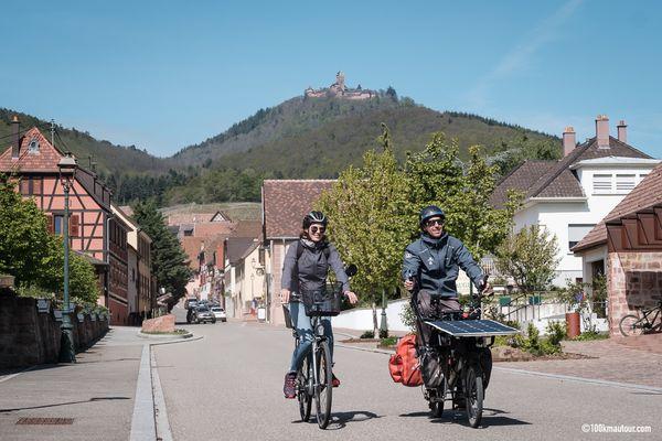 L'étape 12 des 100 kilomètres à vélo, qui passe en contrebas du château du Haut-Koenigsbourg.