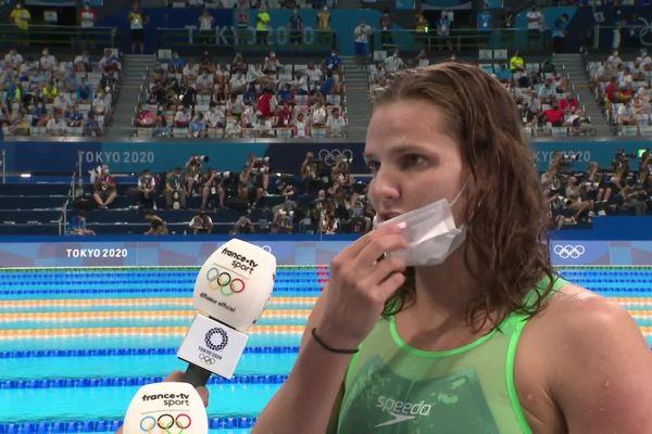Marie Wattel était satisfaite de sa performance à l'issue des séries du 100m papillon