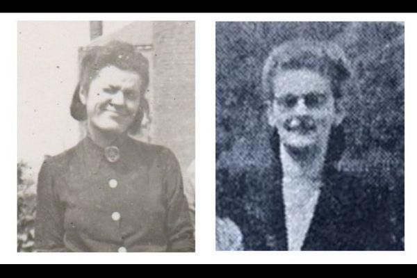 A gauche, la photo que Françoise Boissier a retrouvée, à droite, celle paru dans l'Ardennais en 1995. Pour Françoise Boissier, il ne fait aucun doute qu'il s'agit de la même personne (la femme de gauche tient des lunettes dans sa main).