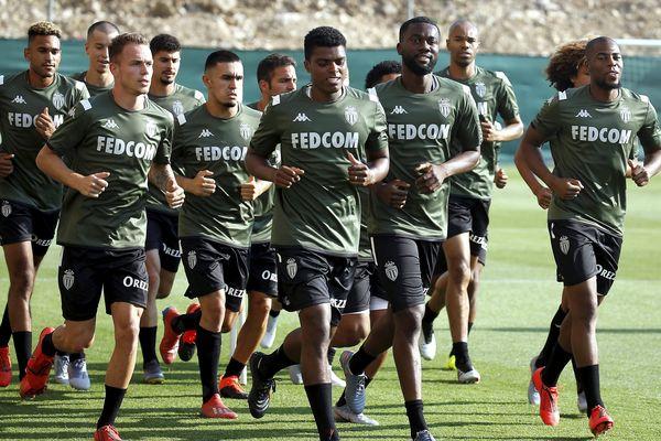 L'équipe de l'AS Monaco lors de la reprise de l'entraînement, le 1er juillet 2019