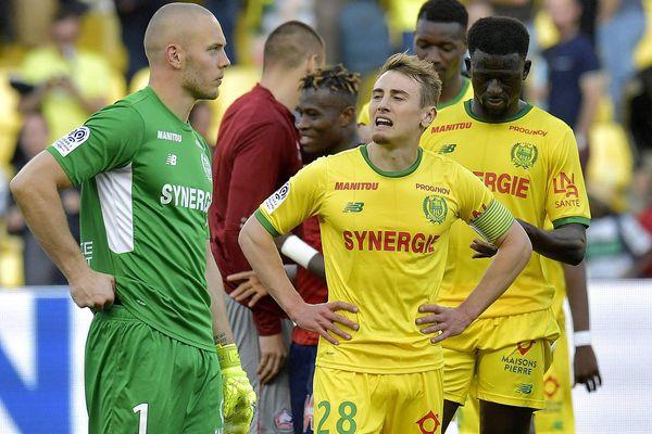 Valentin Rongier, au centre de l'image, quitte le FC Nantes.
