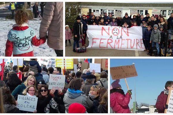 En Centre-Val de Loire, plusieurs manifestations de parents et d'enseignants ont eu lieu depuis le début de l'année pour dénoncer des fermtures de classe en milieu rurale.