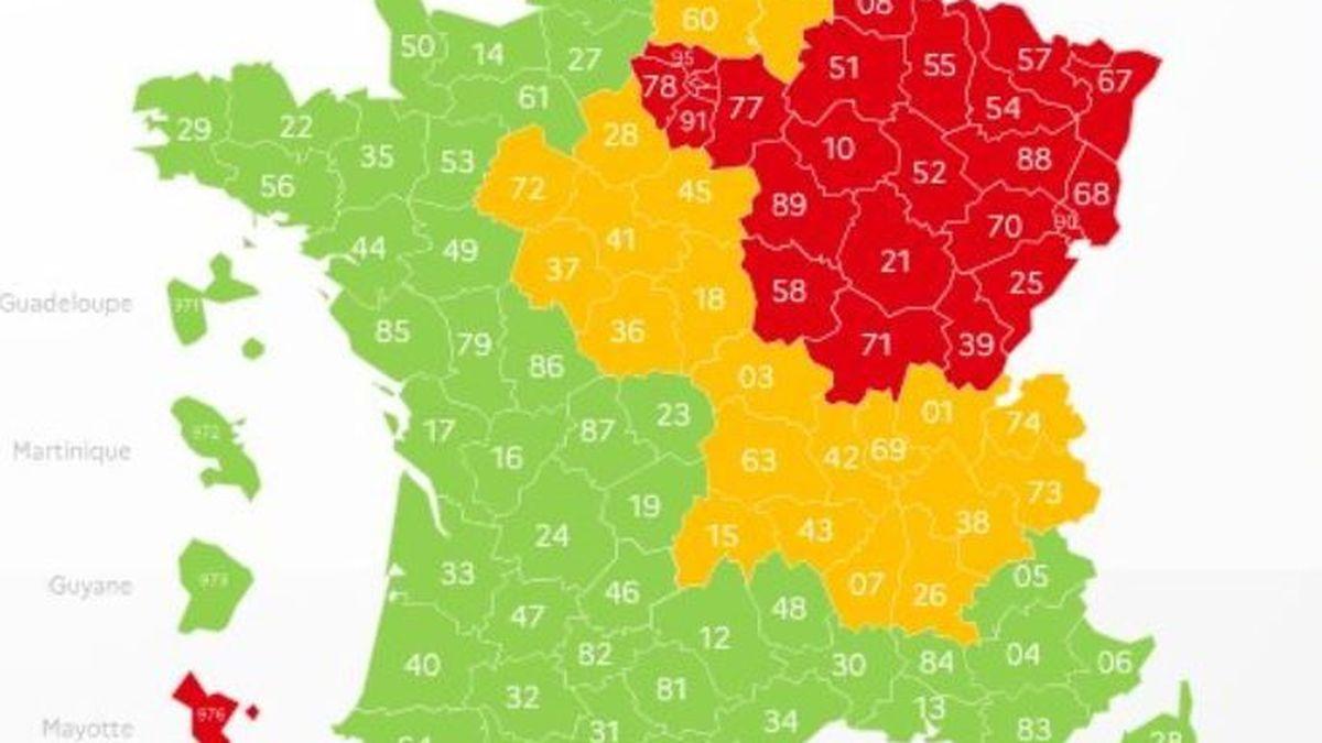 Carte Deconfinement Auvergne Rhone Alpes Ni En Vert Ni En Rouge Mais Toujours En Orange