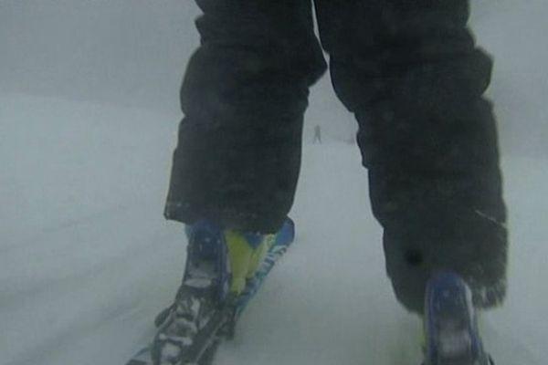 Neige sur la station de ski du Sancy