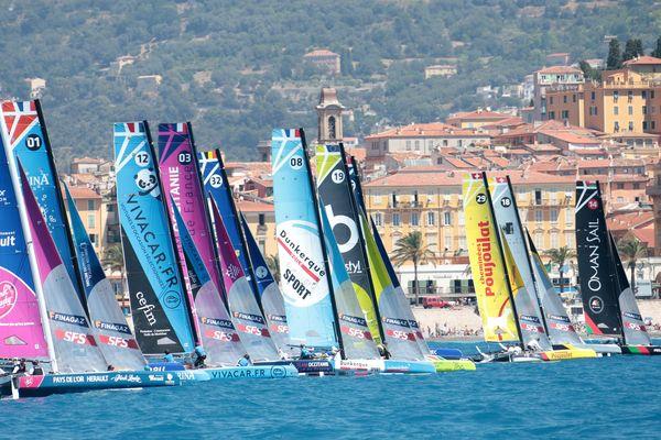 Les bateaux du Tour de France à la voile à Nice en juillet dernier.