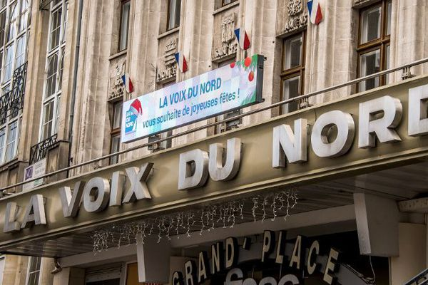 La façade de la Voix du Nord, à Lille.