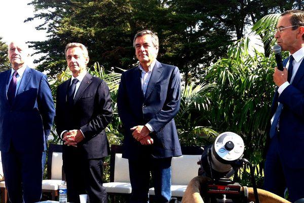 Alain Juppé, Nicolas Sarkozy, François Fillon et Bruno Retailleau réunis à La Baule en août 2015