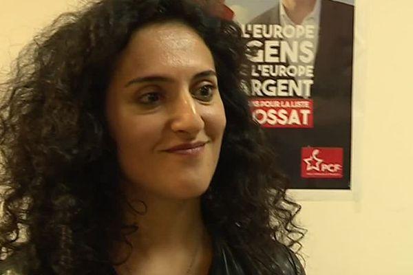 Maryam Madjidi candidate communiste à Breil sur Roya