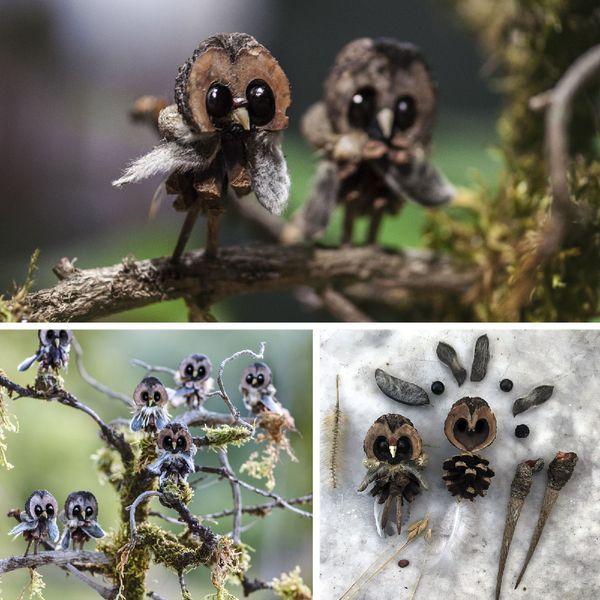 Le travail minutieux de collecte de la matière première donne ensuite vie à ces créatures végétales plus vraies que nature