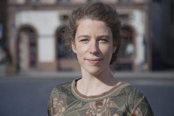 Noëllie Hestin, élue maire pour la deuxième fois de Sainte-Marie-aux-Mines, le 21 mars 2021.