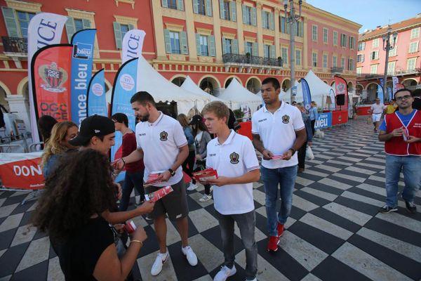Des joueurs de l'OGC Nice seront en renfort sur l'évènement organisé par l'EFS pour inciter aux dons du sang.