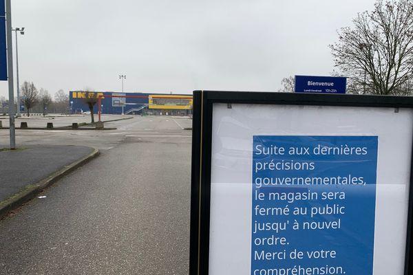 Le magasin Ikea de Strasbourg n'a pas pu ouvrir suite aux décisions gouvernementales