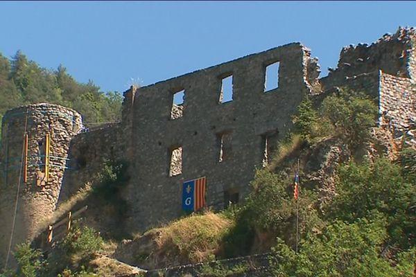 Le château de Guillaume en pleine rénovation, le 9 août 2019