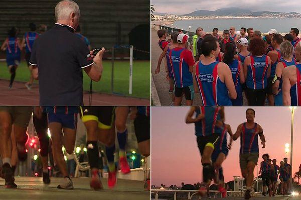 Les participants au marathon Nice Cannes mettent le turbot avant l'épreuve qui aura lieu le 5 novembre prochain.