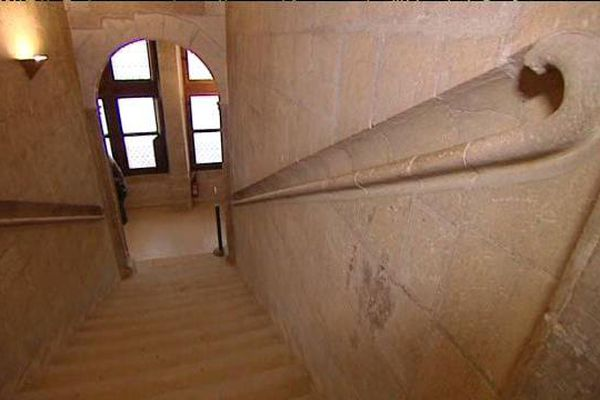 L'escalier du château d'Azay-le-Rideau (Indre-et-Loire)