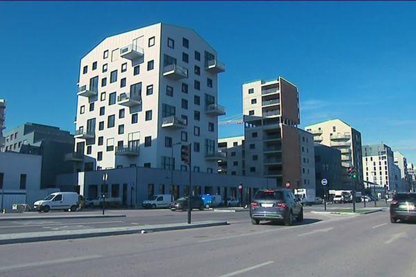 Des immeubles construits ces dernières année Bassins à Flots à Bordeaux, à l'image d'autres secteurs de la capitale girondine.