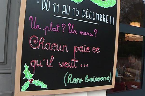 A Nîmes, un restaurant propose à ses clients de choisir le prix de son plat pendant une semaine - 14 décembre 2018