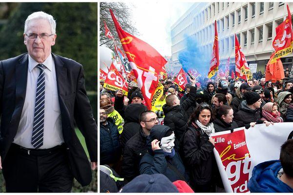 Jean-Pierre Pont // La manifestation des cheminots et fonctionnaires du 22 mars dernier.