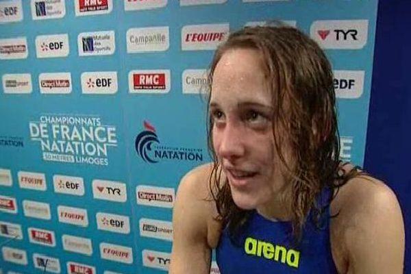 Adeline Furst a décroché la médaille de bronze du 1500  mètres nage libre