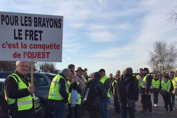 La manifestation à Gournay-en-Bray ce mardi 8 mars 2016