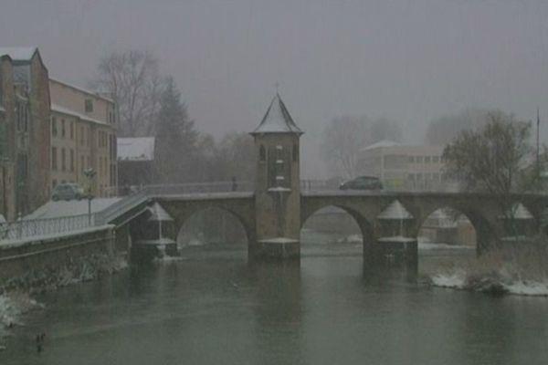 Les villes lorraines sous la neige : Bar le duc