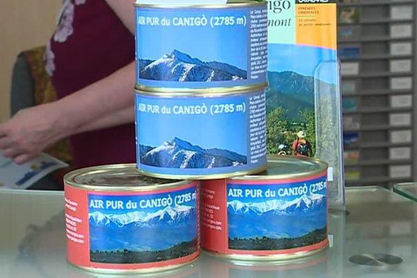 Un catalan a mis au point un concept drôle et pour le moins original : mettre l'air du Mont Canigou, dans les Pyrénées-Orientales, dans une boite de conserve