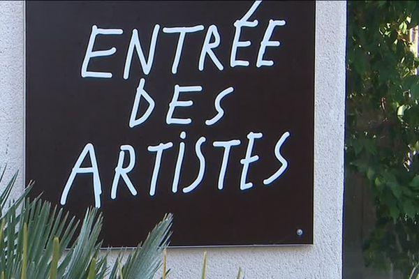 L'entrée des artistes du théâtre des 13 vents à Montpellier. Janvier 2019
