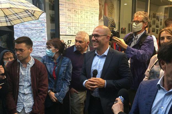 Ludovic Fagaut à sa permanence dimanche soir, après sa défaite aux élections municipales 2020.