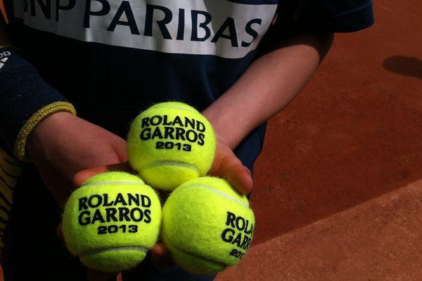 Les célèbres balles jaunes de Roland Garros, édition 2013