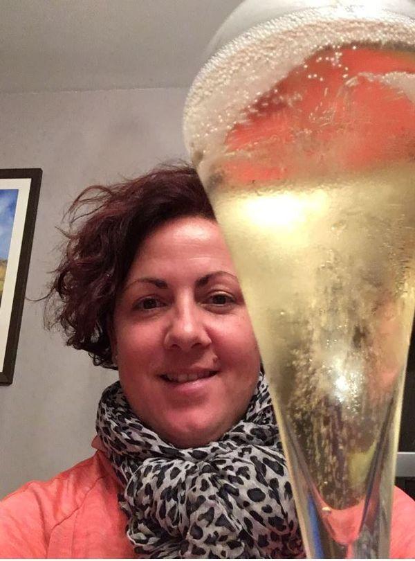 """Des bulles, oui...mais pas en janvier, pour Céline Arnold, deuxième """"janvier sobre"""" en cours."""