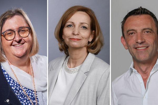 Marie-Agnès Linguet (à gauche sur la photo), Carole Canette (au milieu) et Stéphane Kuzbyt (à droite) sont en lice pour le second tour des élections municipales à Fleury-les-Aubrais.