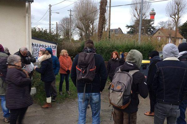 Le collectif AG de lutte contre toutes les expulsions a officialisé l'ouverture d'un nouveau squat ce samedi à Ouistreham.