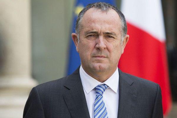 Le sénateur socialiste Didier Guillaume sortant de l'Elysée le 26 juin 2016, au lendemain du Brexit