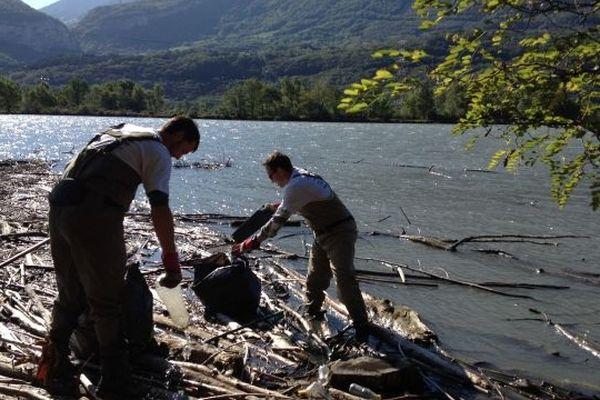 Les pêcheurs au chevet de l'Isère