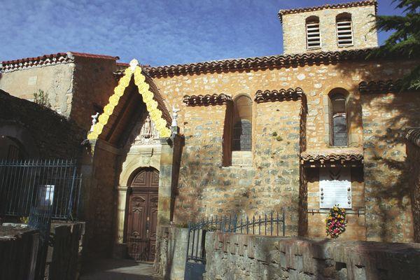 L'église de rennes-le-Château dans l'Aude - illustrations