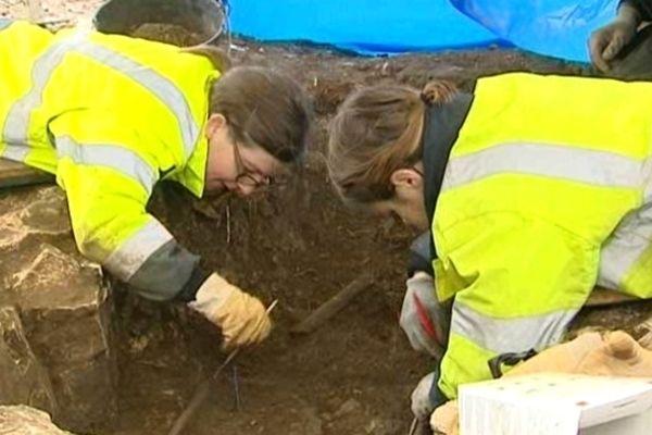 Les fouilles archéologiques sur le chantier du tramway à Besançon