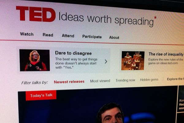 """Le slogan de l'association TED est """"Des idées qui méritent d'être diffusées"""""""