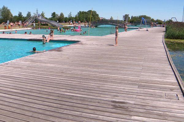 La baignade naturelle de Beaune Côté Plage, en Côte-d'Or.