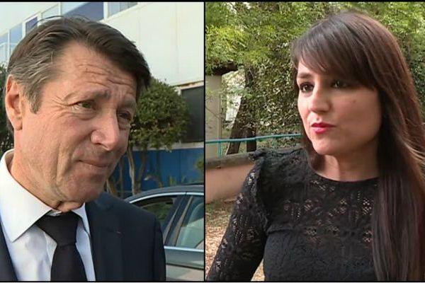 Le maire de Nice Christian Estrosi et Christelle d'Intorni, la maire de Rimplas.