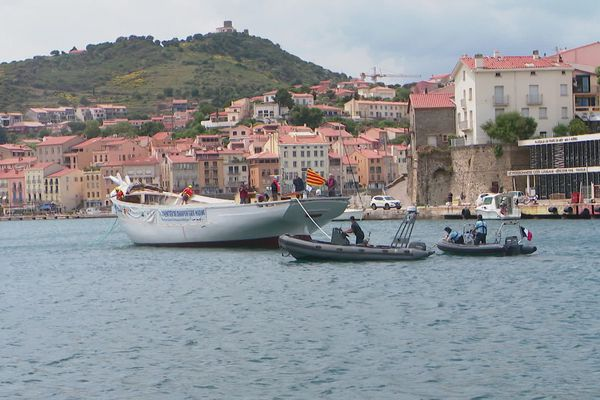 Entre Gruissan, dans l'Aude et Port-Vendres, dans les Pyrénées-Orientales, la traversée aura duré près de 6 heures. / 30 mai 2020.