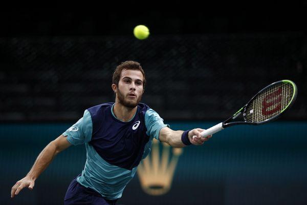 Hugo Gaston, au 1er tour du tournoi de Paris-Bercy