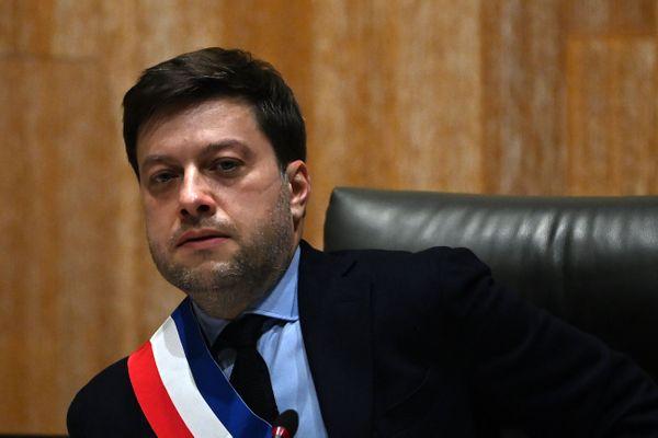 Le nouveau maire de Marseille, Benoît Payan, lors du conseil municipal, le 21 décembre 2020.