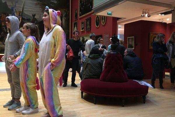 Certains visiteurs ont joué le jeu et sont venus au musée... en pyjama ! - Mai 2019