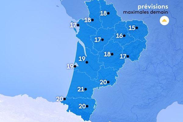 Météo France annonce de 15 à 21°