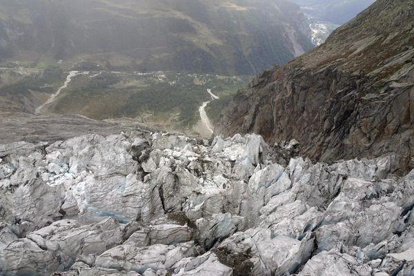 Le glacier de Planpincieux, du côté italien du massif du Mont-Blanc, le 26 septembre 2019.