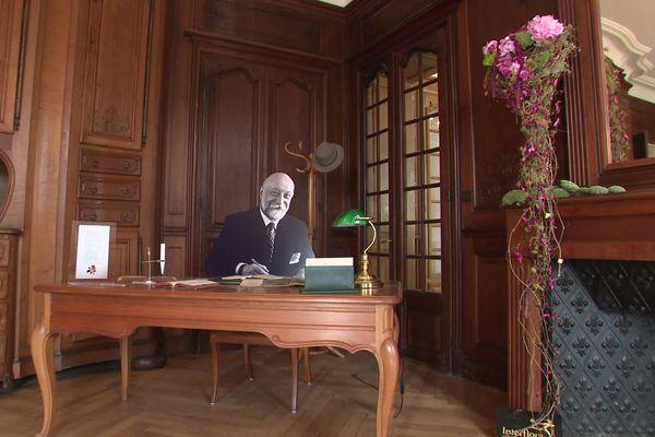 L'une des salles de l'exposition à Saint-Loup-sur-Semouse : Armand Petitjean fondateur de Lancôme