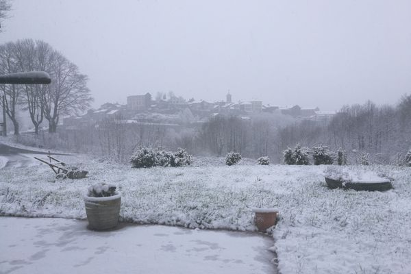 Le nord de l'Hérault sous la neige ce vendredi 19 mars.