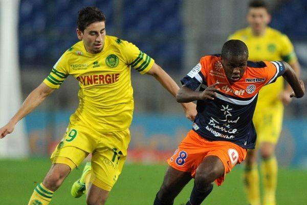 Bedoya pendant le match face à Montpellier